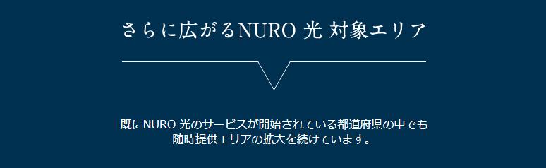 NURO光対象エリア拡大中